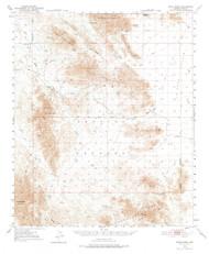 Trigo Peaks, Arizona 1954 (1976) USGS Old Topo Map Reprint 15x15 AZ Quad 315122