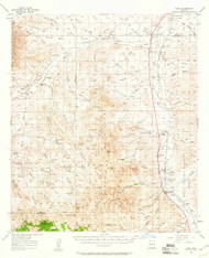 Tubac, Arizona 1957 (1961) USGS Old Topo Map Reprint 15x15 AZ Quad 315126