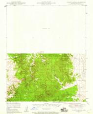 Turkey Canyon, Arizona 1947 (1959) USGS Old Topo Map Reprint 15x15 AZ Quad 315134