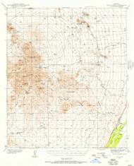 Twin Buttes, Arizona 1939 (1957) USGS Old Topo Map Reprint 15x15 AZ Quad 315138
