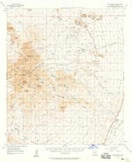 Twin Buttes, Arizona 1957 (1958) USGS Old Topo Map Reprint 15x15 AZ Quad 315143