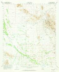 Vaca Hills, Arizona 1959 (1965) USGS Old Topo Map Reprint 15x15 AZ Quad 315148