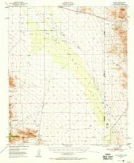 Vanar, Arizona 1950 (1958) USGS Old Topo Map Reprint 15x15 AZ Quad 315156