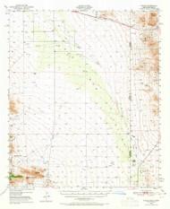 Vanar, Arizona 1950 (1965) USGS Old Topo Map Reprint 15x15 AZ Quad 315155