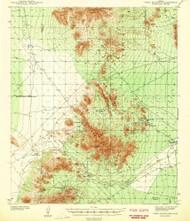 Vekol Mountains, Arizona 1942 (1942) USGS Old Topo Map Reprint 15x15 AZ Quad 315159