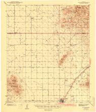 Willcox, Arizona 1943 (1943) USGS Old Topo Map Reprint 15x15 AZ Quad 705109