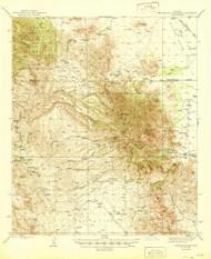 Winchester Mountains, Arizona 1945 (1945) USGS Old Topo Map Reprint 15x15 AZ Quad 315190