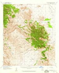 Winchester Mountains, Arizona 1957 (1959) USGS Old Topo Map Reprint 15x15 AZ Quad 315192