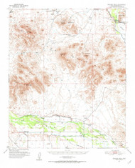 Wodsey Peak, Arizona 1951 (1952) USGS Old Topo Map Reprint 15x15 AZ Quad 315203