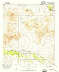 Wodsey Peak, Arizona 1951 (1955) USGS Old Topo Map Reprint 15x15 AZ Quad 315204