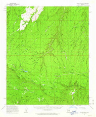 Woods Canyon, Arizona 1961 (1963) USGS Old Topo Map Reprint 15x15 AZ Quad 315201
