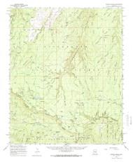 Woods Canyon, Arizona 1961 (1966) USGS Old Topo Map Reprint 15x15 AZ Quad 315202