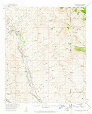 York Valley, Arizona 1959 (1961) USGS Old Topo Map Reprint 15x15 AZ Quad 315209