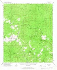 Young, Arizona 1961 (1967) USGS Old Topo Map Reprint 15x15 AZ Quad 315211