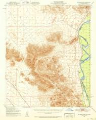Big Maria Mountains, California 1951 (1952) USGS Old Topo Map Reprint 15x15 AZ Quad 296800
