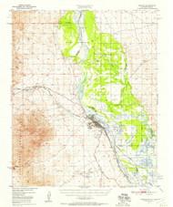 Needles, California 1950 (1957) USGS Old Topo Map Reprint 15x15 AZ Quad 298342