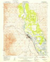 Needles, California 1952 (1952) USGS Old Topo Map Reprint 15x15 AZ Quad 298344