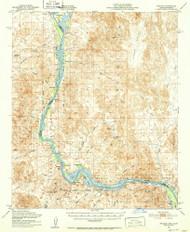 Picacho, California 1951 (1952) USGS Old Topo Map Reprint 15x15 AZ Quad 314904