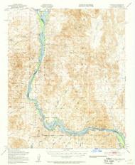 Picacho, California 1951 (1957) USGS Old Topo Map Reprint 15x15 AZ Quad 314903