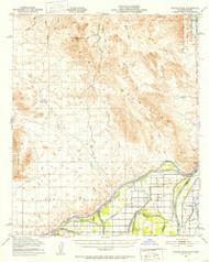 Picacho Peak, California 1951 (1953) USGS Old Topo Map Reprint 15x15 AZ Quad 298532