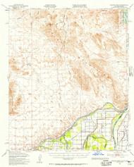 Picacho Peak, California 1951 (1957) USGS Old Topo Map Reprint 15x15 AZ Quad 298533