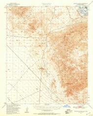 Sawtooth Range, California 1950 (1957) USGS Old Topo Map Reprint 15x15 AZ Quad 301648
