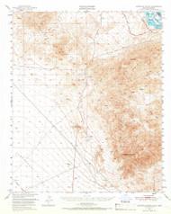 Sawtooth Range, California 1950 (1966) USGS Old Topo Map Reprint 15x15 AZ Quad 301647