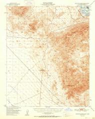 Sawtooth Range, California 1951 (1951) USGS Old Topo Map Reprint 15x15 AZ Quad 301650