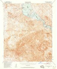 Whipple Mountains, California 1950 (1958) USGS Old Topo Map Reprint 15x15 AZ Quad 301976