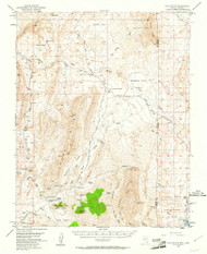 Gold Butte, Nevada 1953 (1961) USGS Old Topo Map Reprint 15x15 AZ Quad 320934