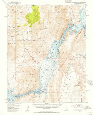 Iceberg Canyon, Nevada 1953 (1955) USGS Old Topo Map Reprint 15x15 AZ Quad 321000