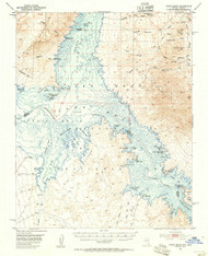 Virgin Basin, Nevada 1953 (1955) USGS Old Topo Map Reprint 15x15 AZ Quad 321404
