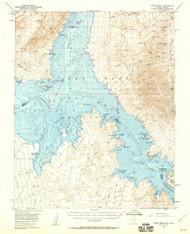 Virgin Basin, Nevada 1953 (1960) USGS Old Topo Map Reprint 15x15 AZ Quad 321405