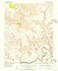 Gunsight Butte, Utah 1953 (1956) USGS Old Topo Map Reprint 15x15 AZ Quad 249675