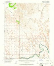 Gunsight Butte, Utah 1953 (1961) USGS Old Topo Map Reprint 15x15 AZ Quad 249674