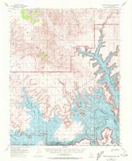 Gunsight Butte, Utah 1953 (1972) USGS Old Topo Map Reprint 15x15 AZ Quad 249677