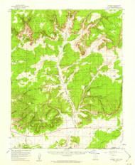 Johnson, Utah 1954 (1959) USGS Old Topo Map Reprint 15x15 AZ Quad 250045