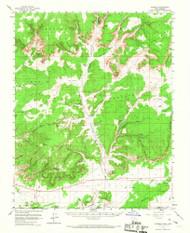 Johnson, Utah 1954 (1967) USGS Old Topo Map Reprint 15x15 AZ Quad 250044