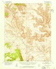 Nipple Butte, Utah 1953 (1956) USGS Old Topo Map Reprint 15x15 AZ Quad 250982