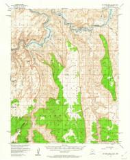 No Mans Mesa, Utah 1953 (1962) USGS Old Topo Map Reprint 15x15 AZ Quad 250985