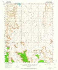 Oljato, Utah 1952 (1964) USGS Old Topo Map Reprint 15x15 AZ Quad 251099