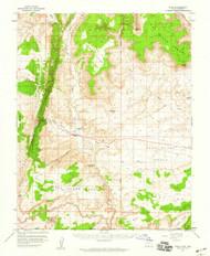 Paria, Utah 1954 (1959) USGS Old Topo Map Reprint 15x15 AZ Quad 251201