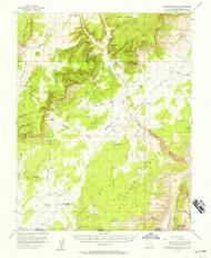 Telegraph Flat, Utah 1954 (1957) USGS Old Topo Map Reprint 15x15 AZ Quad 248342