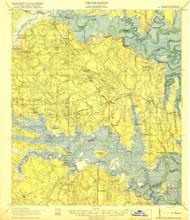 St Marys, Florida 1919 () USGS Old Topo Map Reprint 15x15 GA Quad 348662