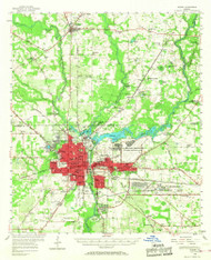 Albany, Georgia 1956 (1968) USGS Old Topo Map Reprint 15x15 GA Quad 247333