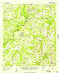Baconton, Georgia 1956 (1957) USGS Old Topo Map Reprint 15x15 GA Quad 247341