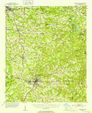 Barnesville, Georgia 1951 (1953) USGS Old Topo Map Reprint 15x15 GA Quad 247345