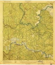 Boulogne, Georgia 1919 () USGS Old Topo Map Reprint 15x15 GA Quad 247354