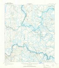 Boulogne, Georgia 1917 (1966) USGS Old Topo Map Reprint 15x15 GA Quad 247355