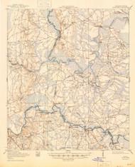 Boulogne, Georgia 1919 (1945) USGS Old Topo Map Reprint 15x15 GA Quad 247356